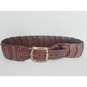 Michael Kors Wide Brown Belt